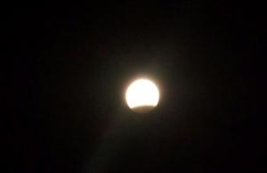 лунное затмение в Балхаше